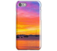Amazing sunset on the ocean iPhone Case/Skin