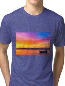 Amazing sunset on the ocean Tri-blend T-Shirt
