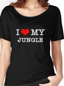 I Love My Jungle - Black  Women's Relaxed Fit T-Shirt