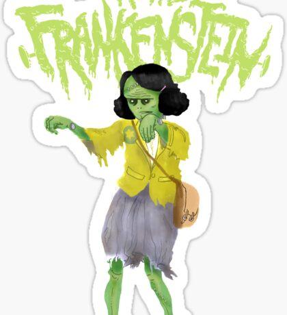 Anne Frankenstein Sticker