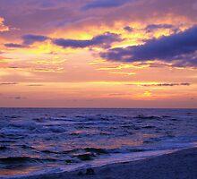 Sky and Sea Panorama by Sandy Keeton