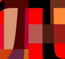 Geometric Pi  Sticker