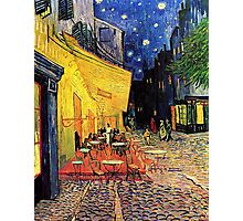 The Cafe Terrace on the Place du Forum, Arles, at Night,  Vincent van Gogh Photographic Print