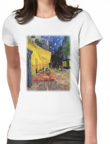 The Cafe Terrace on the Place du Forum, Arles, at Night,  Vincent van Gogh Womens Fitted T-Shirt