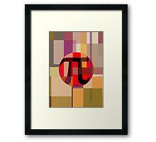 Geometric Pi  Framed Print