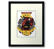 Teenage Mutant Ninja Pool! Framed Print