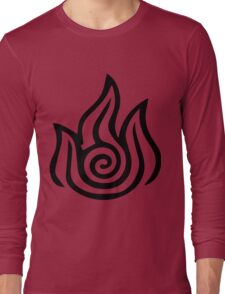 Firebending Black Long Sleeve T-Shirt