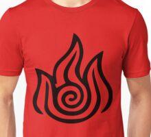 Firebending Black Unisex T-Shirt