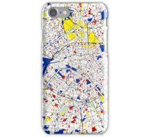 Paris Piet Mondrian Style City Street Map Art iPhone Case/Skin