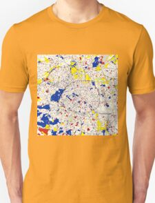 Paris Piet Mondrian Style City Street Map Art Unisex T-Shirt