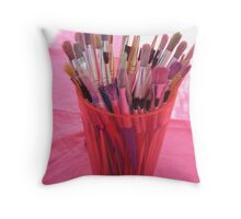 Marble Festival brushes Throw Pillow