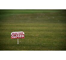 Closed For The Season... Photographic Print