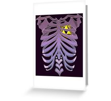 Zelda Triforce heart (v2) Greeting Card