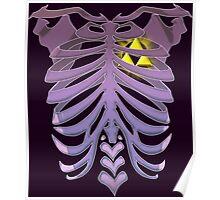 Zelda Triforce heart (v2) Poster