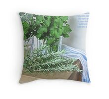 herbs Throw Pillow