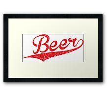 VINTAGE Beer Framed Print