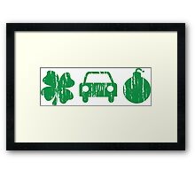 VINTAGE Irish Car Bomb Framed Print