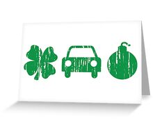 VINTAGE Irish Car Bomb Greeting Card