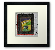 Oh Oh - Green Hands Framed Print