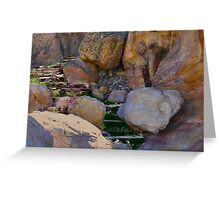 CARD; STONE STAIRWAY TO SKY CITY Greeting Card