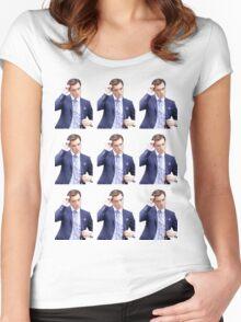 Chuck Bass Tile Women's Fitted Scoop T-Shirt