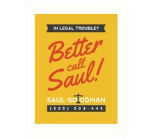 Better Call Saul | Breaking Bad Art Print