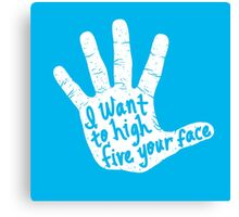 Hand to Face Canvas Print