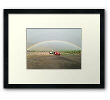 Maui rainbow & pineapple truck Framed Print