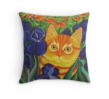 Vincent's Cat Throw Pillow