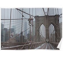 Downtown From Brooklyn Bridge New York City Poster