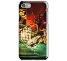 Christmas tree lights in a still life composition iPhone Case/Skin