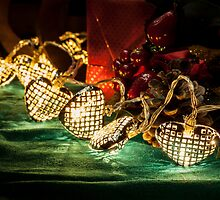 Christmas tree lights in a still life composition by enolabrain