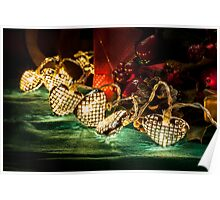 Christmas tree lights in a still life composition Poster