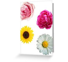 Flowers Set Greeting Card