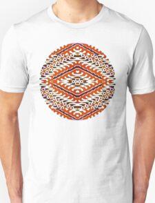 Tribal Mandala - Burnt Orange & White T-Shirt