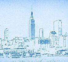 BluePrint of New York City by Adam Asar