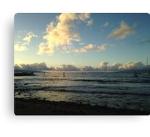 Old Lahaina Luau sunset Canvas Print