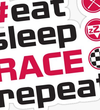 Able Heath Motorsport - Eat Sleep Race Repeat Sticker
