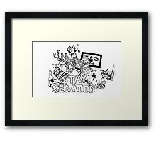 STAY SEDATED  Framed Print