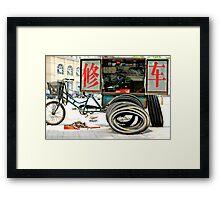 Bicycle Repair Station Framed Print