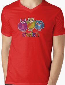 owlish retro  Mens V-Neck T-Shirt
