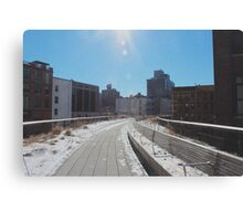 The Highline, Disused converted rail track NYC Canvas Print