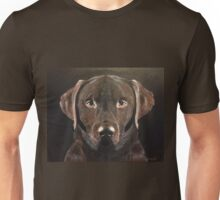 Chocolate Labrador, Faithful Friend Unisex T-Shirt