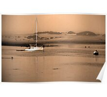 Dawn on Moro Bay sand banks, California. Poster