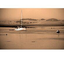 Dawn on Moro Bay sand banks, California. Photographic Print