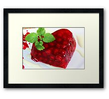 Sweet Hearts With Red Currants Framed Print