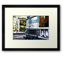 Beijing Bus Framed Print