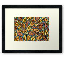 Barni - (goanna) irralb season (autumn) Framed Print