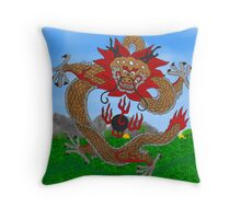 Imperial Dragon Throw Pillow