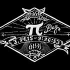 Ultimate Pi Day 2015. Pi. Pie. Black version this time. by betsystreeter